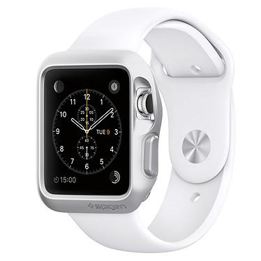 Spigen Apple Watch Case Slim Armor Argent (42 mm) Coque de protection fine avec lot de 2 films de protection pour Apple Watch