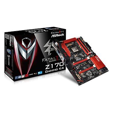 ASRock Z170 Gaming K4 Carte mère ATX Socket 1151 Intel Z170 Express - SATA 6Gb/s + SATA Express + M.2 - USB 3.0 - 2x PCI-Express 3.0 16x