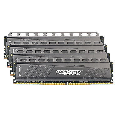 Ballistix Tactical 32 Go (4 x 8 Go) DDR4 3000 MHz CL15 Kit Quad Channel RAM DDR4 PC4-24000 - BLT4C8G4D30AETA (garantie 10 ans par Crucial)