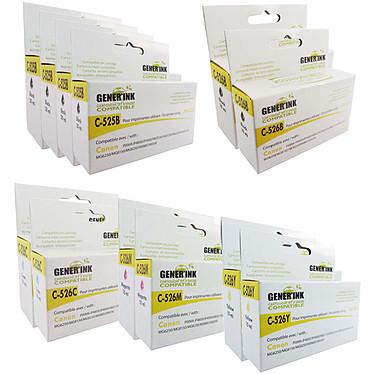 Megapack cartucho compatibles Canon PGI-525/CLI-526 (Cyan, magenta, amarillo et negro)