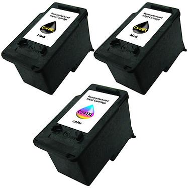 Multipack cartouches compatible Canon PG-540/CL-541XL (Cyan, magenta, jaune et noir) Pack de 3 cartouches d'encre compatibles Canon (2 x noir et 1 x tricolore)