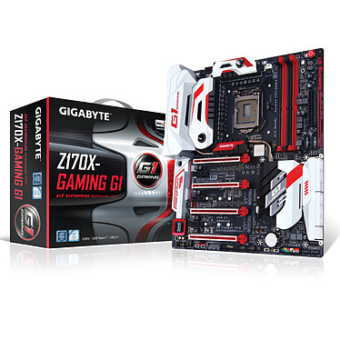 Gigabyte GA-Z170X-Gaming 1 Carte mère E-ATX Socket 1151 Intel Z170 Express - SATA 6Gb/s + M.2 + SATA Express - USB 3.1 - 4x PCI-Express 3.0 16x - Wi-Fi AC/Bluetooth 4.1