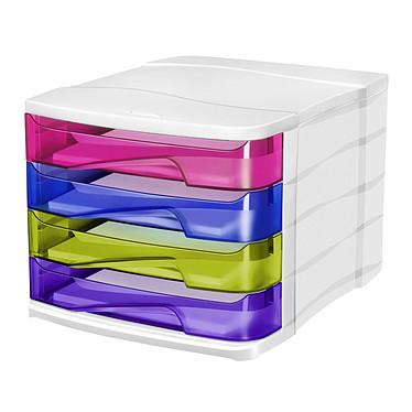 CEP Bloc de classement 4 tiroirs multicolore Happy 394 HM Bloc de classement 4 tiroirs fermés 24 x32 cm multicolore