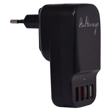Halterrego chargeur multi USB (4 ports dont 2 de charge ultra-rapide) sur prise secteur Chargeur secteur pour 4 appareils USB (smartphone, tablette, enceinte Bluetooth...)