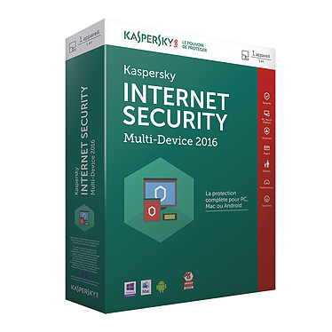 Kaspersky Internet Security 2016 - Licence 1 poste 1 an
