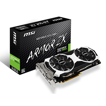 MSI GeForce GTX 980 TI 6GD5T OC 6144 Mo DVI/HDMI/Tri DisplayPort - PCI Express (NVIDIA GeForce avec CUDA GTX 980 Ti)