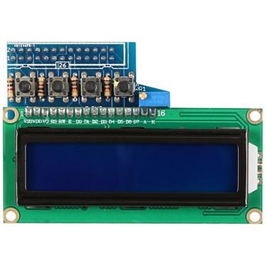 JOY-iT afficheur LCD à deux lignes avec boutons pour Raspberry Pi Afficheur LCD bleu à 2 lignes de 16 caractères pour carte Raspberry Pi