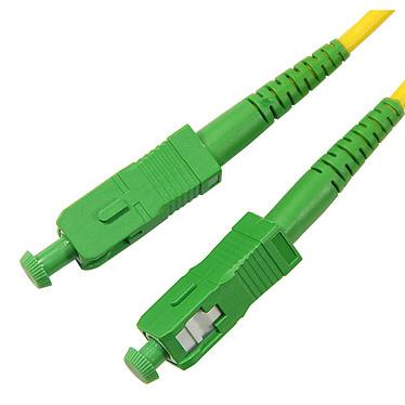 Jarretière optique simplex monomode 9/125 SC-APC/SC-APC (5 mètres) Câble fibre optique pour box internet (compatible SFR Box, Orange Livebox et Bouygues Bbox)