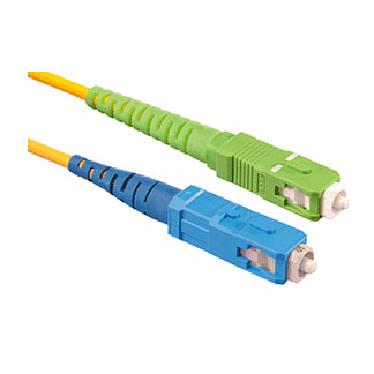 Puente óptico simplex monomodo 9/125 SC-APC / SC-UPC (3 metros) Cable de fibra óptica para la pasarela residencial (compatible con Freebox Ô 2A, Freebox Revolution, Freebox Mini 4K, K-Net y Wibox)