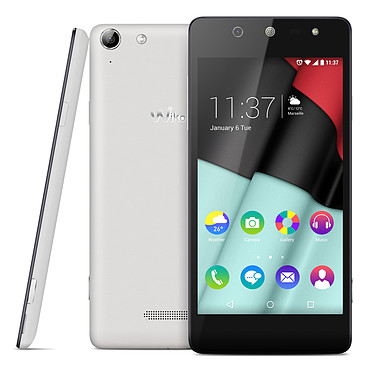 "Wiko Selfy 4G Blanc Smartphone 4G-LTE - ARM Cortex-A53 Quad-Core 1 GHz - RAM 1 Go - Ecran tactile 4.8"" 720 x 1280 - 8 Go - Bluetooth 4.0 - 2300 mAh - Android 5.1"