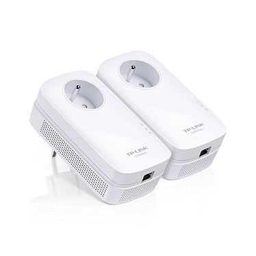TP-LINK TL-PA8015P KIT Pack de 2 adaptateurs CPL 1300 Mbps 1 port Gigabit LAN avec prise intégrée