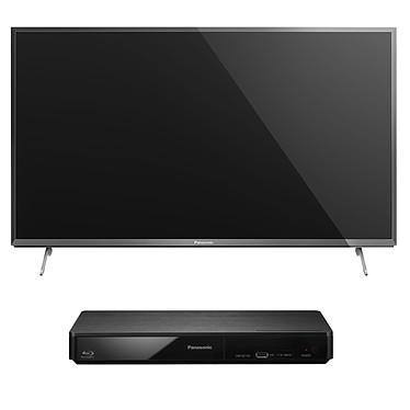"""Panasonic TX-50CX700E + Panasonic DMP-BDT160EF Téléviseur LED 4K 3D 50"""" (127 cm) 16/9 - 3840 x 2180 pixels - TNT et Câble HD - Wi-Fi - DLNA - 800 Hz + Lecteur Blu-ray 3D Full HD compatible DLNA et USB"""