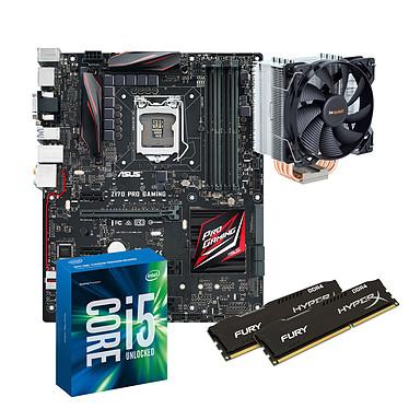 Kit Upgrade PC Core i5 ASUS Z170 PRO Gaming 8 Go Carte mère ATX Socket 1151 Intel Z170 Express + CPU Intel Core i5-6600K (3.5 GHz) + RAM 8 Go DDR4 + Ventilateur de processeur