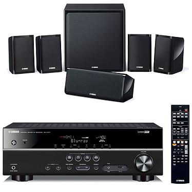 Yamaha RX-V377 Noir + Yamaha NS-P40 Ampli-tuner Home Cinéma 5.1 3D-Ready avec HDMI 1.4 et décodeurs HD + Pack d'enceintes 5.1