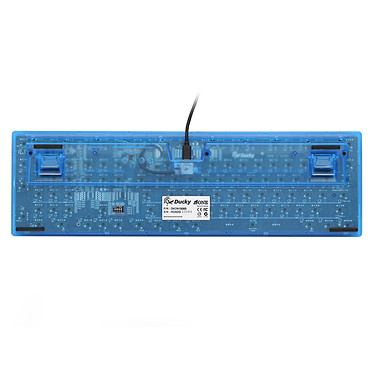 Acheter Ducky Channel One (coloris bleu transparent - MX Brown - LEDs bleues - touches ABS)