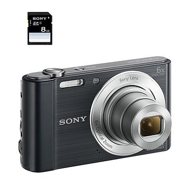 Sony DSC-W810 Pack Carte mémoire Noir Appareil photo 20.1 MP - Zoom optique 6x - HD 720p - Écran LCD 6.7 cm