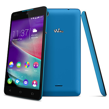 "Wiko Rainbow Lite 4G Bleu Smartphone 4G-LTE Dual SIM - Snapdragon 210 Quad-Core 1.1 GHz - RAM 1 Go - Ecran tactile 5"" 480 x 854 - 4 Go - Bluetooth 4.0 - 2000 mAh - Android 5.1"