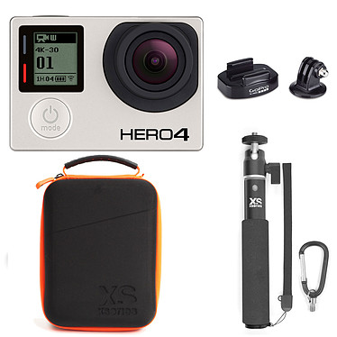 GoPro HERO 4 : Black Edition + Fixation + XSories Capxule & U-Shot Monochrome