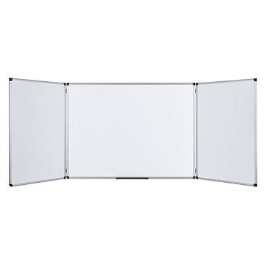 Bi-Office Tableau blanc triptyque émaillé 120 x 200/400 cm
