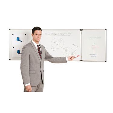 Bi-Office Pizarra tríptico esmaltado 90 x 120/240 cm a bajo precio