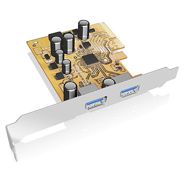 ICY BOX Carte USB 3.1 Carte d'extension PCI-Express avec 2 ports USB 3.1 Type A