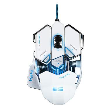 Bluestork KULT#4 (blanche) Souris filaire pour gamer - Droitier - Capteur optique 3500 dpi - 10 boutons - Rétro-éclairage