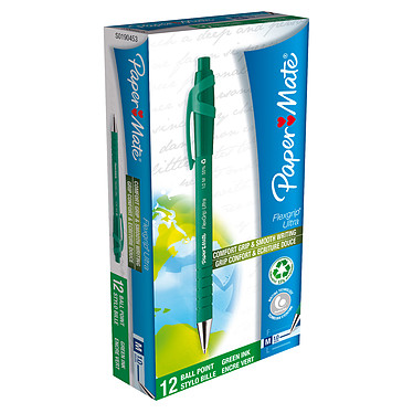 Paper Mate Flexgrip Ultra vert x 12