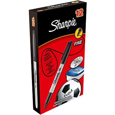 Sharpie Fine Noir x 12 Pack de 12 marqueurs permanents noirs avec pointe ogive