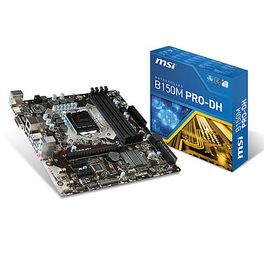 MSI B150M PRO-DH Carte mère Micro ATX Socket 1151 Intel B150 Express - SATA 6Gb/s + SATA Express - USB 3.0 - 1x PCI-Express 3.0 16x