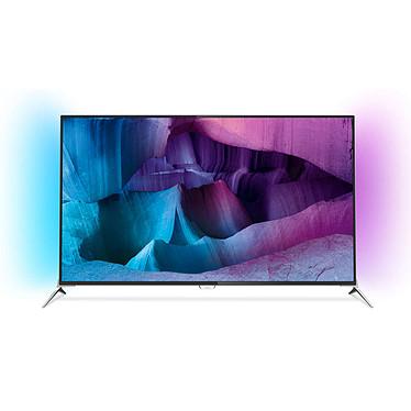 """Philips 55PUS7100 Téléviseur LED 4K 3D 55"""" (140 cm) 16/9 - 3840 x 2160 pixels - TNT, Câble et Satellite HD - Wi-Fi - Android - 800 Hz - 4 paires de lunettes 3D Passive"""