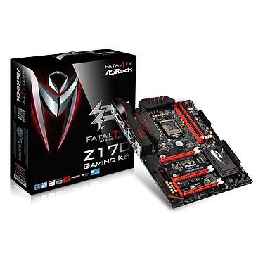 ASRock Fatal1ty Z170 Gaming K6+ Carte mère ATX Socket 1151 Intel Z170 Express - SATA 6Gb/s + SATA Express + M.2 - USB 3.1 - 3x PCI-Express 3.0 16x