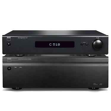 NAD C 275BEE + NAD C510 Amplificateur de puissance 2 x 150 W Graphite + Pré-amplificateur numérique / DAC avec USB et HDMI