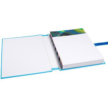 Avis Exacompta Chemise à sangle papier toilé avec rabat Bleu