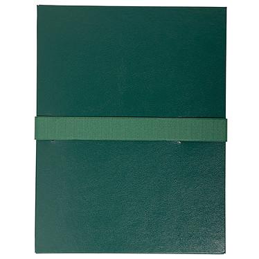 Exacompta Chemise à sangle velcro avec rabat Vert Chemise à sangle velcro en balcron extensible avec rabat format 24 x 32cm Vert