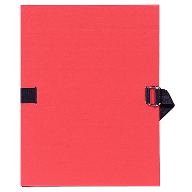Exacompta Chemise à sangle papier toilé Rouge Chemise papier toilé à sangle extensible format 24 x 32 cm coloris Rouge