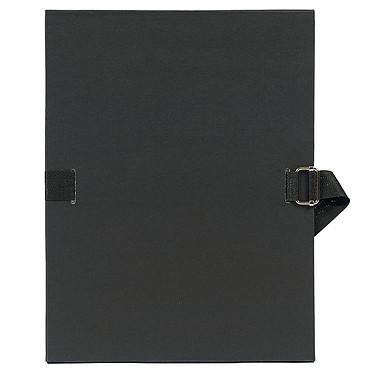 Exacompta Chemise à sangle papier toilé Noir Chemise papier toilé à sangle extensible format 24 x 32 cm coloris Noir