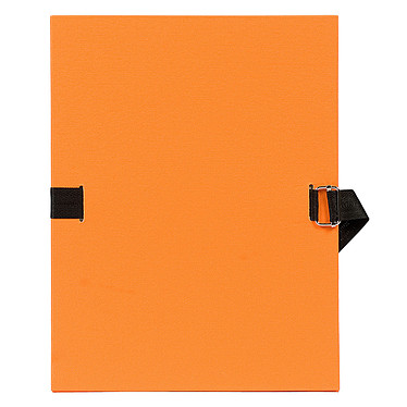Exacompta Chemise à sangle papier toilé Orange Chemise papier toilé à sangle extensible format 24 x 32 cm coloris Orange