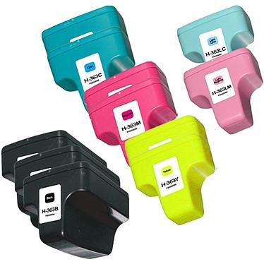 Megapack cartouches compatibles HP 363 (Cyan, magenta, jaune, noir, cyan clair et magenta clair)