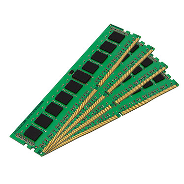 Kingston ValueRAM 16 Go (4 x 4 Go) DDR4 2400 MHz ECC Registered CL17 Kit Quad Channel DDR4 PC4-19200 - KVR24R17S8K4/16I (garantie 10 ans par Kingston)