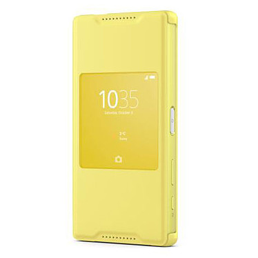 Sony Style Up Jaune Sony Xperia Z5 Compact Etui folio avec fenêtre pour Sony Xperia Z5 Compact