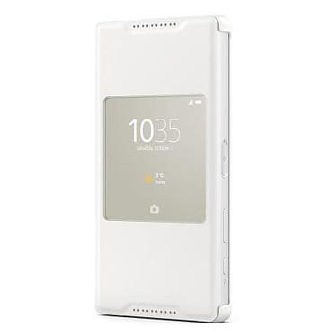 Sony Style Up Blanc Sony Xperia Z5 Compact Etui folio avec fenêtre pour Sony Xperia Z5 Compact