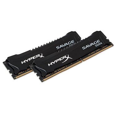 HyperX Savage Noir 8 Go (2x 4Go) DDR4 2800 MHz CL14 Kit Dual Channel 2 barrettes de RAM DDR4 PC4-22400 - HX428C14SB2K2/8 (garantie 10 ans par Kingston)
