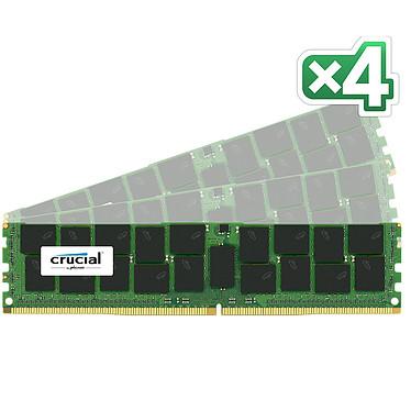 Crucial DDR4 128Go (4 x 32 Go) 2400 MHz CL17 ECC Registered DR X4 Kt Quad Channel RAM RAM DDR4 PC4-19200 - CT4K32G4RFD424A (10 años de garantía de Crucial)