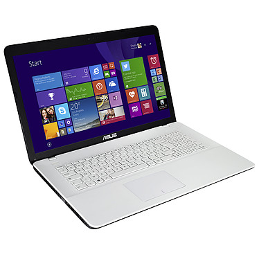"ASUS X751LAV-TY475T Blanc Intel Core i5-5200U 4 Go 1 To 17.3"" LED HD+ Graveur DVD Wi-Fi N/Bluetooth Webcam Windows 10 Famille 64 bits (Garantie constructeur 1 an)"