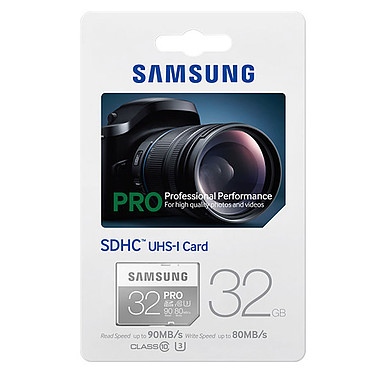 Samsung Pro U3 SDHC 32 Go pas cher