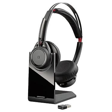 Plantronics Voyager Focus UC B825-M Casque-micro stéréo Bluetooth avec annulation de bruit et support de charge optimisé pour Microsoft Lync