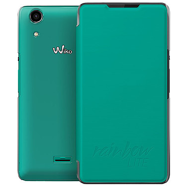 Wiko Etui Cover Back Folio Bleen Rainbow Lite 4G Etui folio pour Wiko Rainbow Lite 4G
