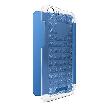 Wiko Folio Diamants Bleu Lenny 2 Etui folio à coque arrière rigide pour Wiko Lenny 2