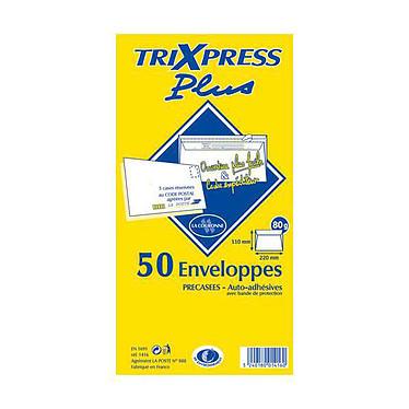 La Couronne Paquet de 50 enveloppes DL précasées Paquet de 50 enveloppes format DL auto-adhésives 80 g
