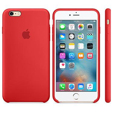 Apple Coque en silicone Rouge Apple iPhone 6s Plus